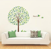 Toprate(TM) Happy Tree Wall Sticker Decal Ideal for Kids Room Baby Nursery Living Room