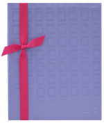 MCS MBI Embossed Fabric 200-Pocket Photo Album, Purple