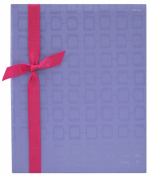MCS MBI Embossed Fabric 200-Pocket Photo Album, Purple
