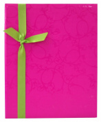 MCS MBI Embossed Fabric 200 Pocket Photo Album, Pink