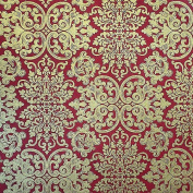 Nepalese Mandchou Printed Paper- Red 50cm x 80cm Sheet
