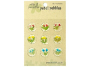 Silver J Pressed dried flower self adhesive stickers, epoxy floral sticker, 2 packs