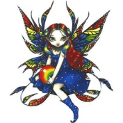 Midnight Rainbow Strangeling Fairy Decorative Sticker Decal By Jasmine Becket-Griffith