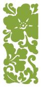 Scrollwork Flowers Velvet Lime Class A'Peels Scrapbook Stickers