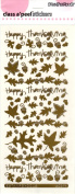 Thanks Leaves Gold Class A'Peels Scrapbook Stickers
