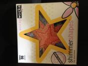 Stars Shimmer Shapes Glitter Chipboard Diecut Assortment