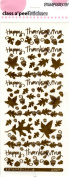 Thanks Leaves Antique Gold Class A'Peels Scrapbook Stickers
