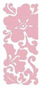 Scrollwork Flowers Velvet Blush Pink Class A'Peels Scrapbook Stickers