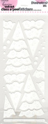 Stackable Trees Velvet White Class A'Peels Scrapbook Stickers