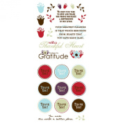 Die Cuts With A View Adornment Gratitude Peel & Stick, 2 Sheets