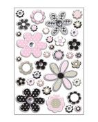 Flower Rhinestone Epoxy Scrapbook Stickers