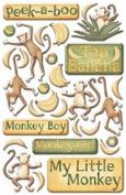 Epoxy Sticker Little Monkey