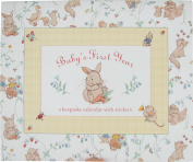 Baby's First Year Keepsake Calendar Gift Set Whimsy Animals by New Seasons
