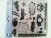 Li'l Davis Designs Clear Stamps Ready Set Go!built for Speed