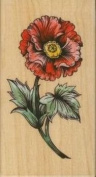 Red Flower Rubber Stamp by Rubber Stampede