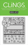 Hero Arts Clings Rubber Stamp / Flower Patterns