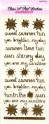 Summer Messages Gold Class A'Peels Scrapbook Stickers