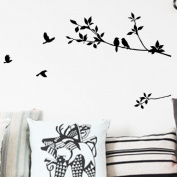 Toprate(TM) Tree Branch and Birds DIY Removable Wall Decal for Living Room Bedroom Vinyl Wall Sticker Art Home Decoration