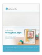 Silhouette Adhesive Back Corrugated Paper 22cm x 28cm 6/Pkg-White & Kraft