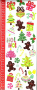 GINGERBREAD MEN AND CANDY CANES, CHRISTMAS TREES AND PEPERMENT CANDY STICKERS
