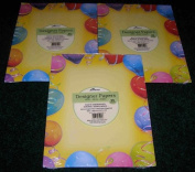 3 PIECE AMPAD DESIGNER PAPER (25 SHEETS) PARTY SCHEME