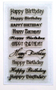 Happy Birthday (10cm x 18cm ) Clear Stamps Sheet / Greetings Wishes Happy Birthday