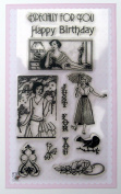 Cute Girls / Vintage Clear Stamps Set