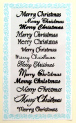 Merry christmas 2 - Decorative // Clear stamps pack (10cm x 18cm ) FLONZ