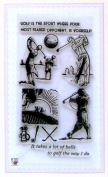 Golf players at dusk // Clear stamps pack (10cm x 18cm ) FLONZ