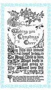Christmas Greetings - Christmas Cheer // Clear stamps pack (10cm x 18cm ) FLONZ