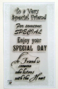 Special Day (10cm x 18cm ) Clear Stamps Sheet / Greetings Wishes Happy Birthday