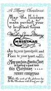 Christmas Greetings - Wish you a Merry Christmas // Clear stamps pack (10cm x 18cm ) FLONZ