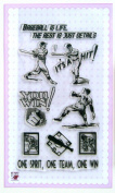 Baseball you win // Clear stamps pack (10cm x 18cm ) FLONZ