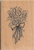Bouquet Wood Mounted Rubber Stamp