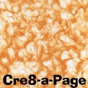 Cre8-a-Page V-1 Handmade Bright Orange Transparent Veil Paper 12x12 Scrapbooking, 10 Sheets