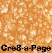 Cre8-a-Page V-4 Handmade Dark Orange Transparent Veil Paper 12x12 Scrapbooking, 10 Sheets