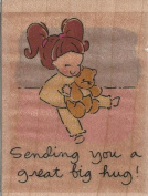 Great Big Hug Wood Mounted Rubber Stamp