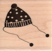 Old Fashioned Hat Wood Mounted Rubber Stamp