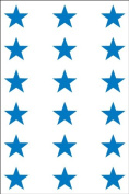 Ace Label 6013AL Teacher Star School Stickers, 1.9cm , Blue, 10 Sheets