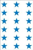 Ace Label 6013AL Teacher Star School Stickers, 1.9cm , Blue, 10 Sheets