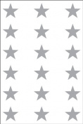 Ace Label 6014AL Teacher Star School Stickers, 1.9cm , Silver, 10 Sheets