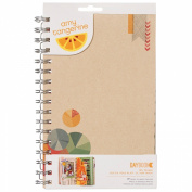 Amy Tangerine Ready Set Go Spiral Daybook 14cm x 22cm -Yes, Please With 19 Mixed Design Pages