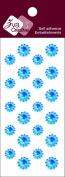 Zva Creative CRW-06CA-153 Crystal Sticker, Ice Blue Flower Accents