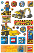 Lego Epoxy Stickers, City Construction/Phrase