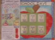 School Days Scrapbook with coordinating scrapbook accessories