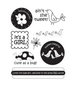 Autumn Leaves Stampology Full Sheet Clear Stamps Baby Girl