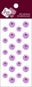 Zva Creative CRW-06CA-149 Crystal Sticker, Pink Flower Accents