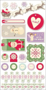 Cosmo Cricket Mitten Weather Ready Set Chipboard Stickers, 15cm -by-30cm