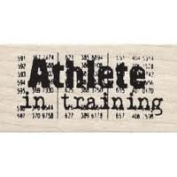 Athlete In Training Wood Mounted Rubber Stamp