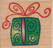 Festive Gift Wood Mounted Rubber Stamp